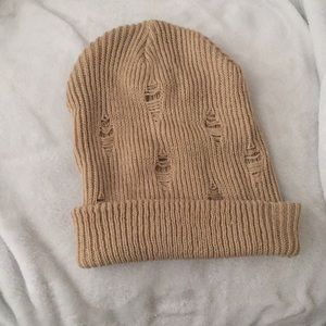 Distressed Knit Beanie